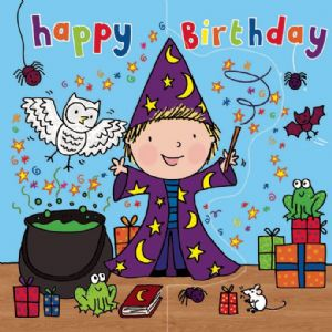 Wizard Birthday Card, Sparkly Card,  Pop Out Card TW196